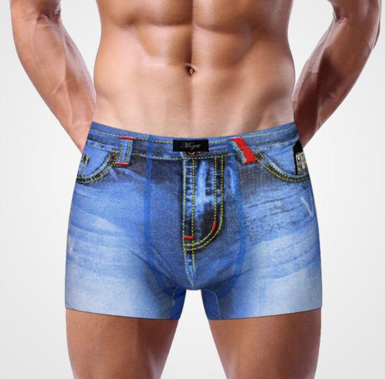 heren boxershorts jeans print